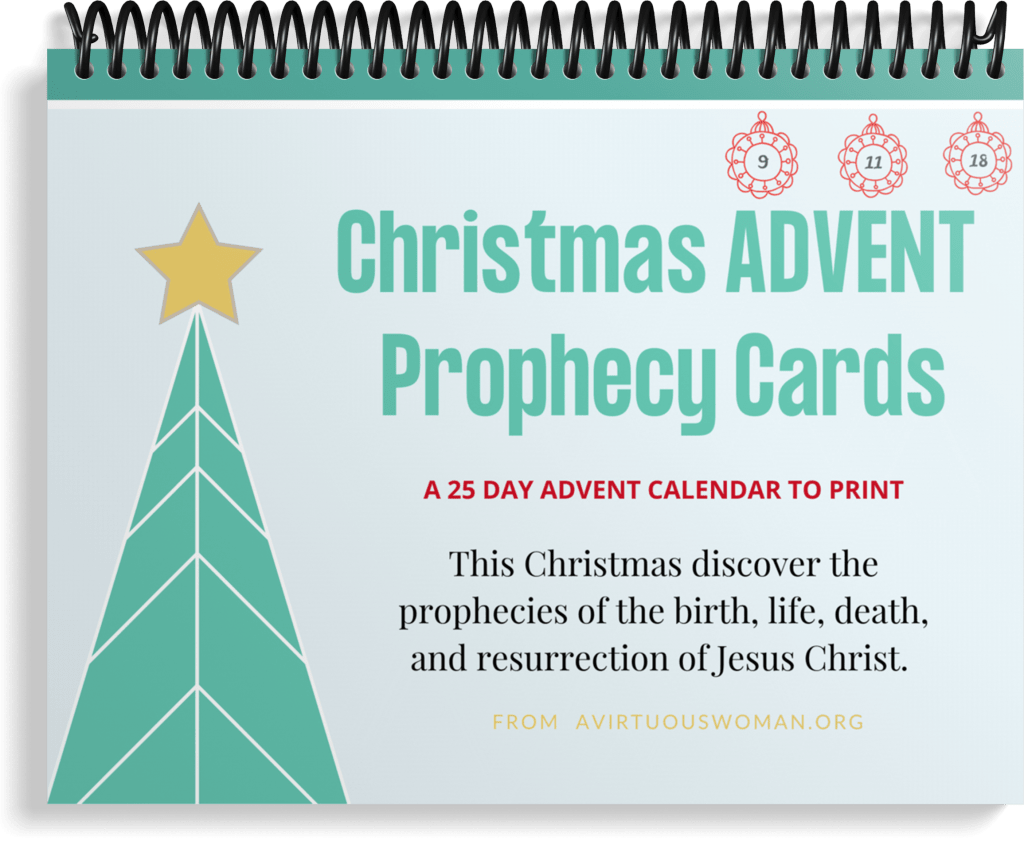 25 Day Advent Scripture Cards | Prophecy Advent Cards to Print @ AVirtuousWoman.org