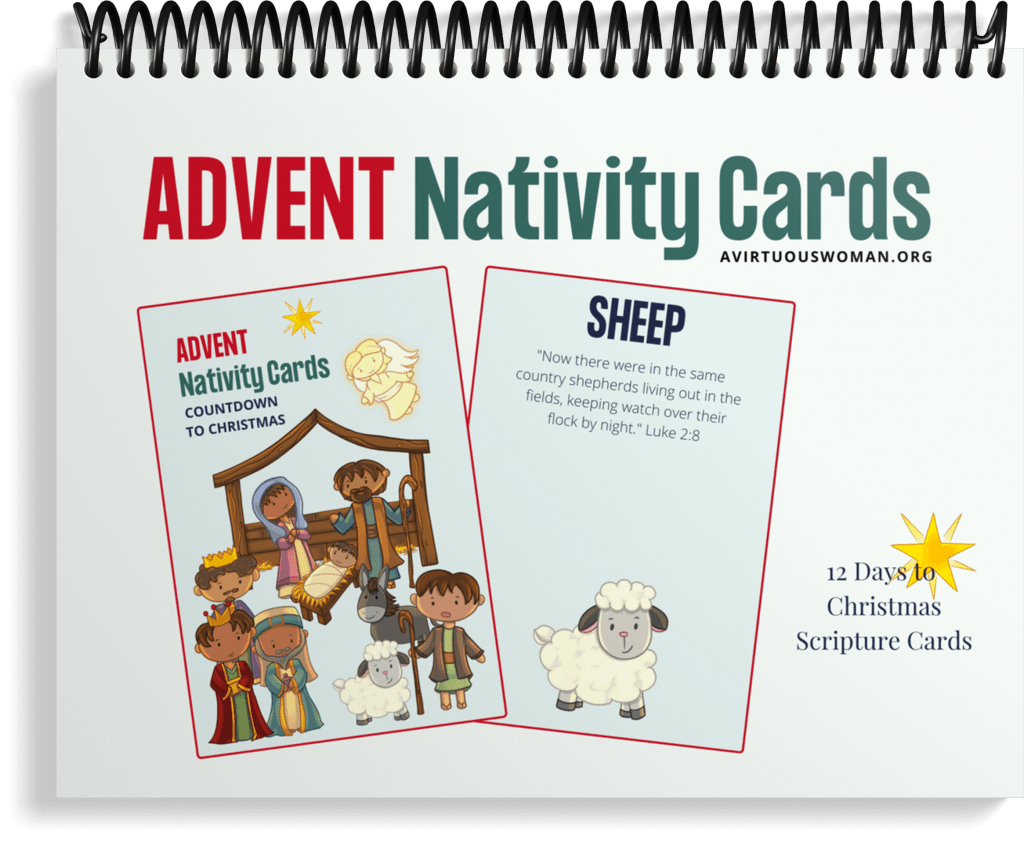 Advent Nativity Scripture Cards @ AVirtuousWoman.org
