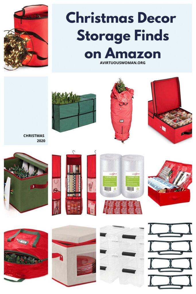Christmas Decor Storage Finds on Amazon @ AVirtuousWoman.org