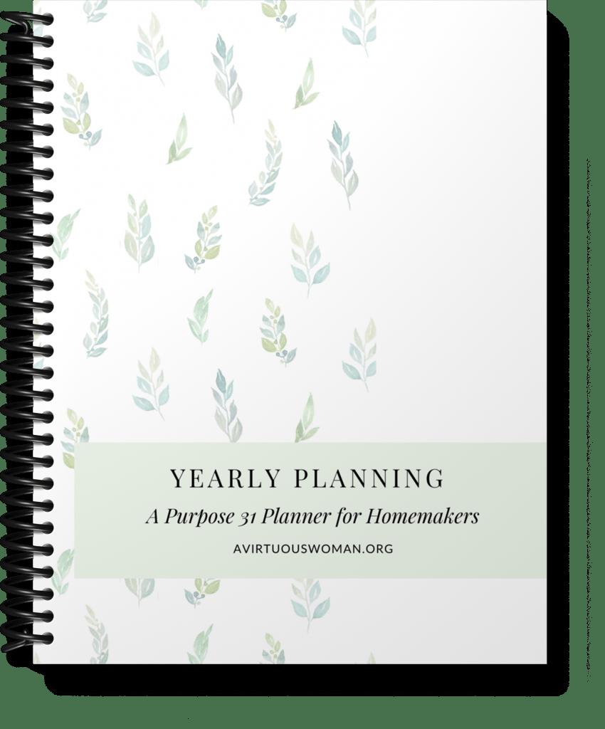 Yearly Planning Workbook @ AVirtuousWoman.org
