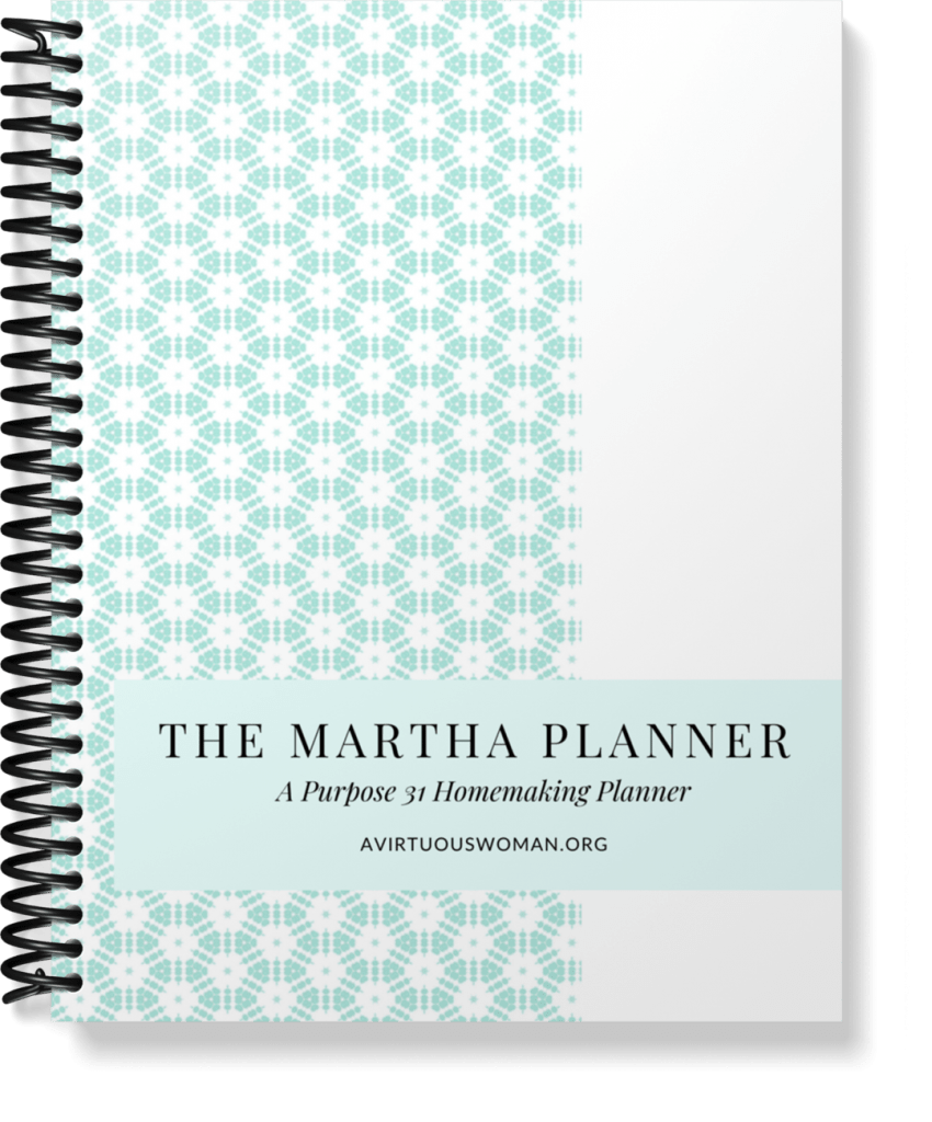 The Martha Planner | Homemaking Planner @ AVirtuousWoman.org