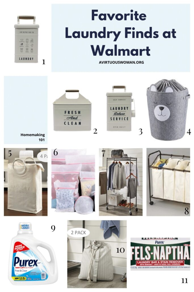 Favorite Laundry Finds at Walmart @ AVirtuousWoman.org