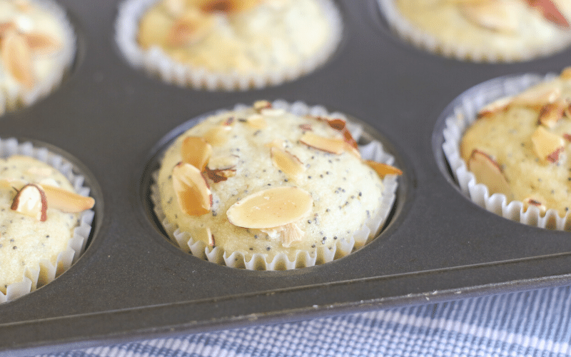 Almond Poppy Seed Muffins for Breakfast, Brunch, or Tea Time