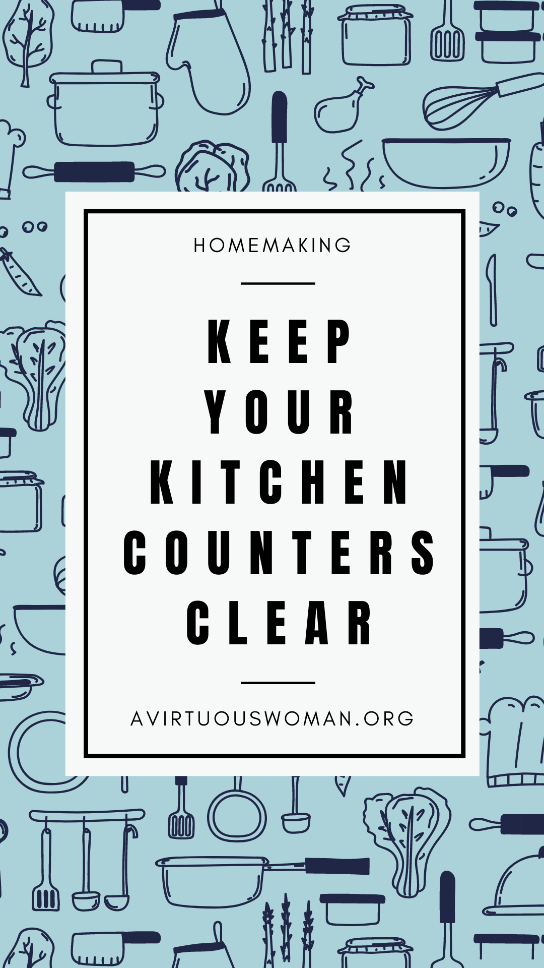 Keep Your Kitchen Counters Clear