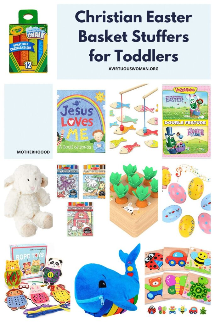 Christian Easter Basket Stuffers for Toddlers @ AVirtuousWoman.org