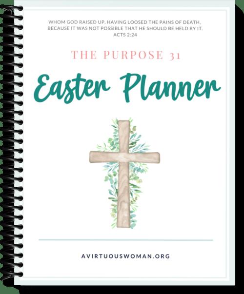 Free Printable Easter Planner @ AVirtuousWoman.org