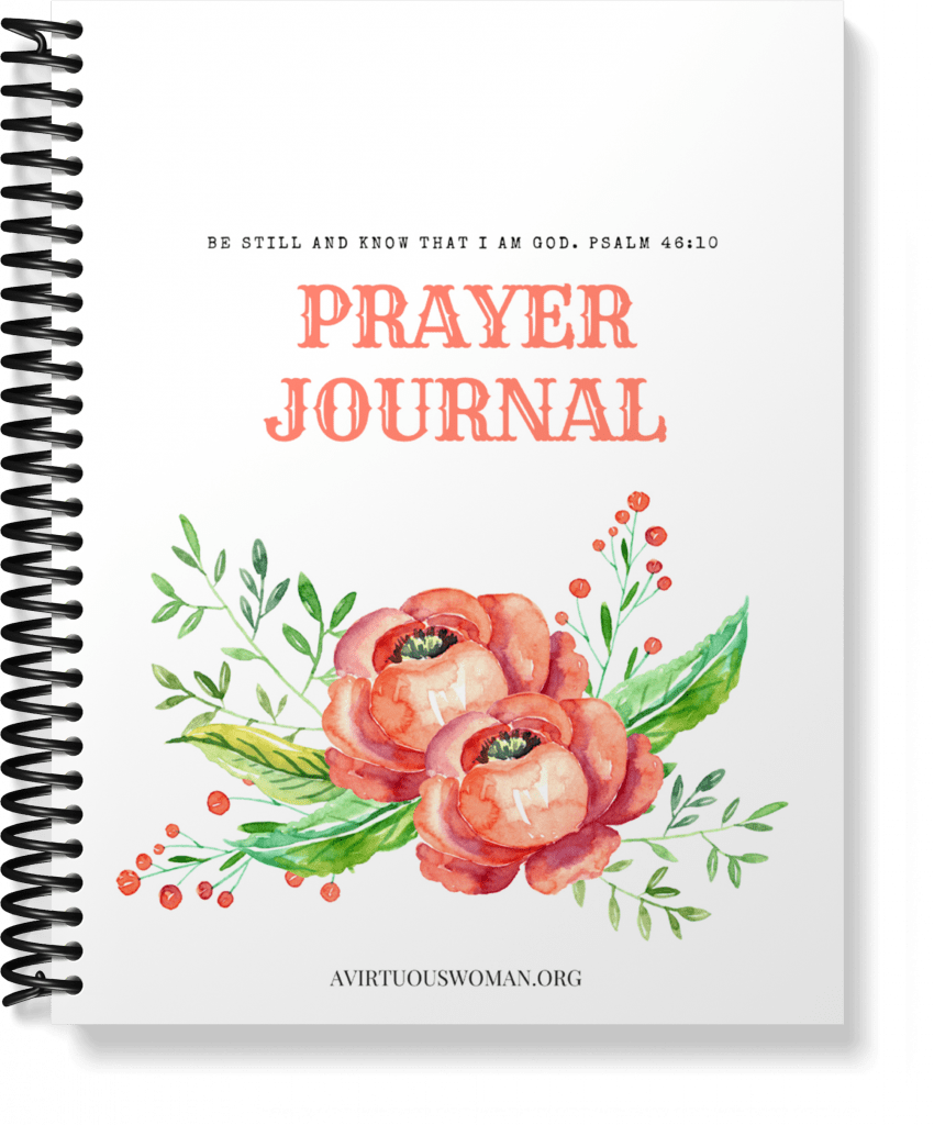 Printable Prayer Journal @ AVirtuousWoman.org