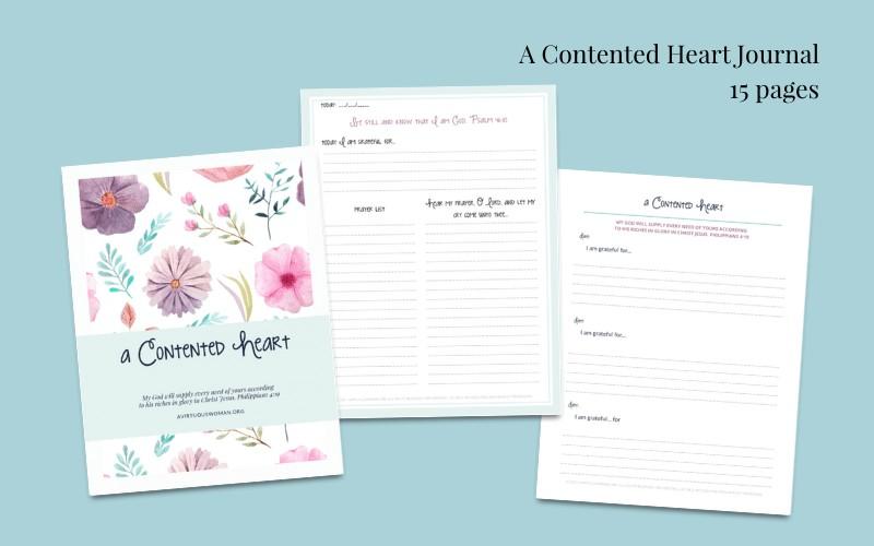 A Contented Heart Prayer and Gratitude Journal @ AVirtuousWoman.org