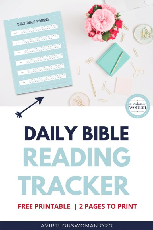 Daily Bible Reading Tracker @ AVirtuousWoman.org