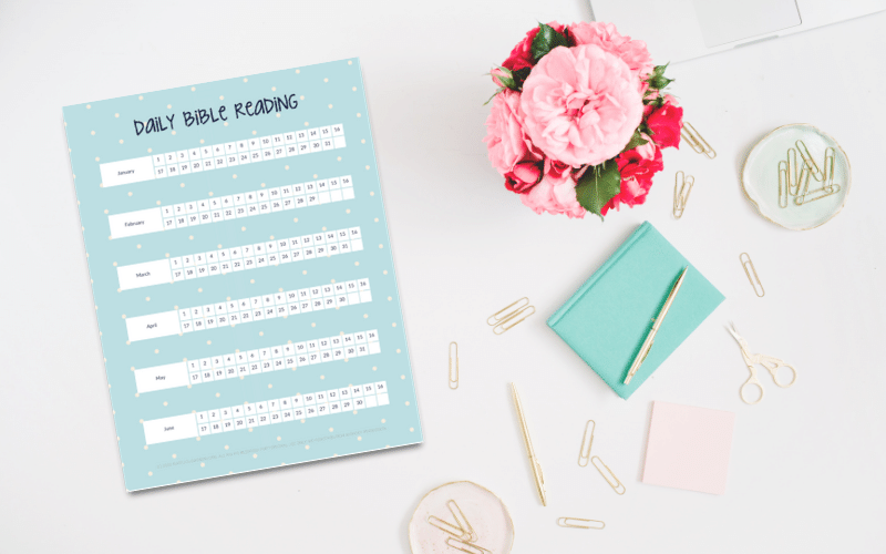 Free Printable Daily Bible Reading Trackers