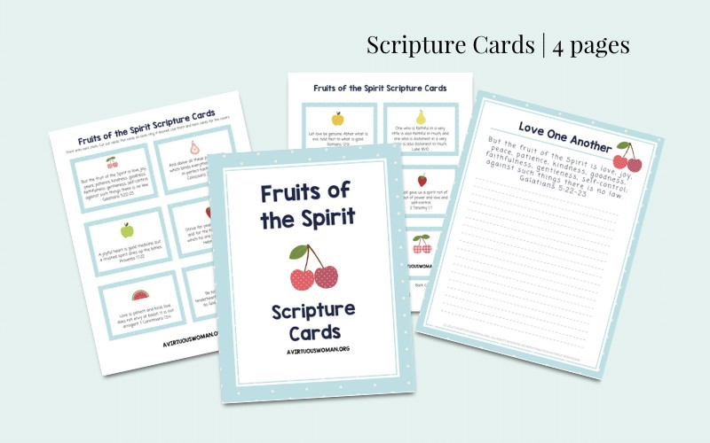 Fruits of the Spirit Scripture Cards @ AVirtuousWoman.org