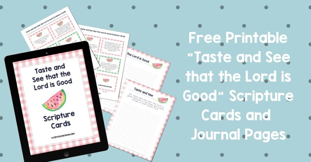 Free Printable Scripture Cards for Summer @ AVirtuousWoman.org