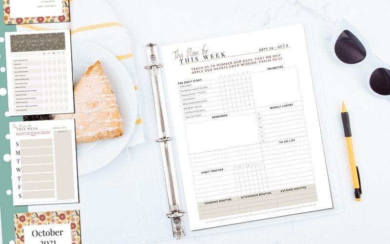 Homemaker's Binder: October 2021 | Free Printable Household Binder