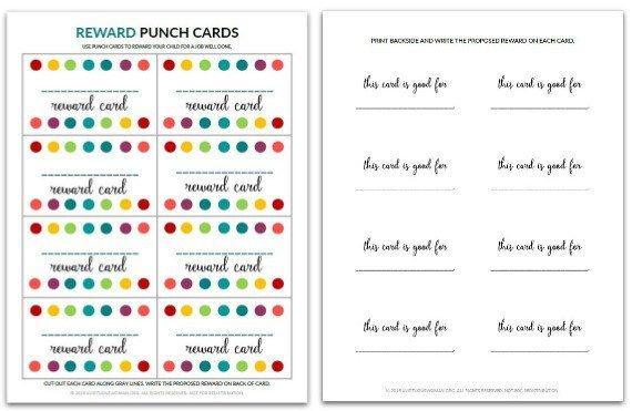 Reward Punch Card @ AVirtuousWoman.org