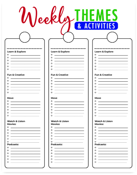 Summer Camp at Home Planner   Blank @ AVirtuousWoman.org