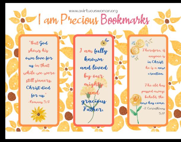 I am Precious Bookmarks @ AVirtuousWoman.org