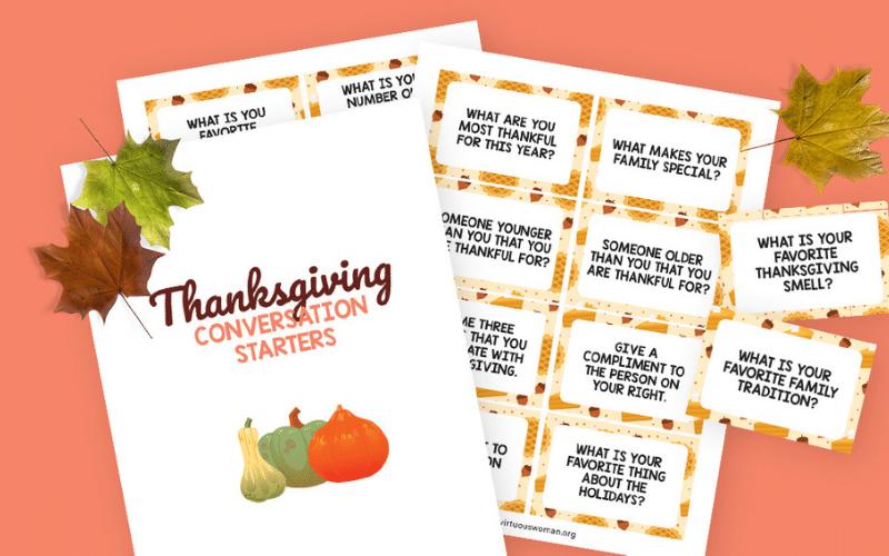 Thanksgiving Conversation Starter Cards @ AVirtuousWoman.org