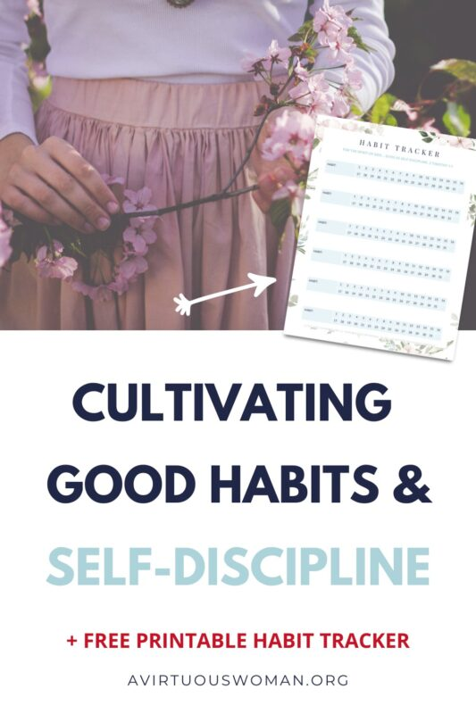 Cultivating Good Habits and Self Discipline @ AVirtuousWoman.org