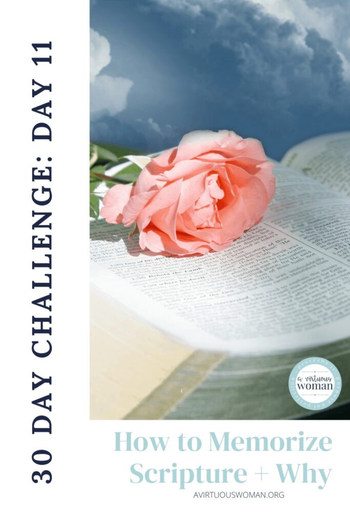 How to Memorize Scripture @ AVirtuousWoman.org