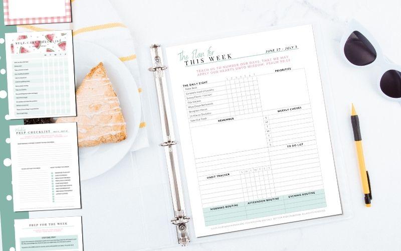 Homemaker's Binder: July 2021 | Free Printable Household Binder